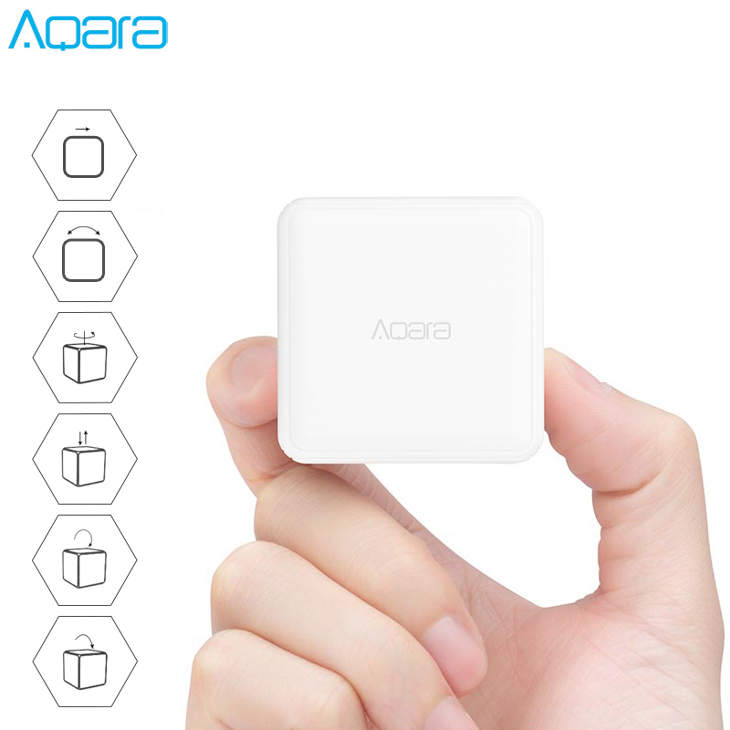 Original Aqara Magic Cube Controller Zigbee Version Controlled By Six Actions Smart Home Device For Xiaomi Mijia Mi Home APP
