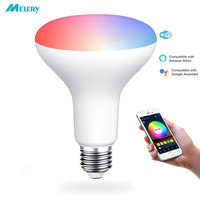 WIFI Smart LED Light Bulbs E27 8W R95 Equal 80W Reflector RGB White Color Mood Light Homekit Works with Alexa and Google Home