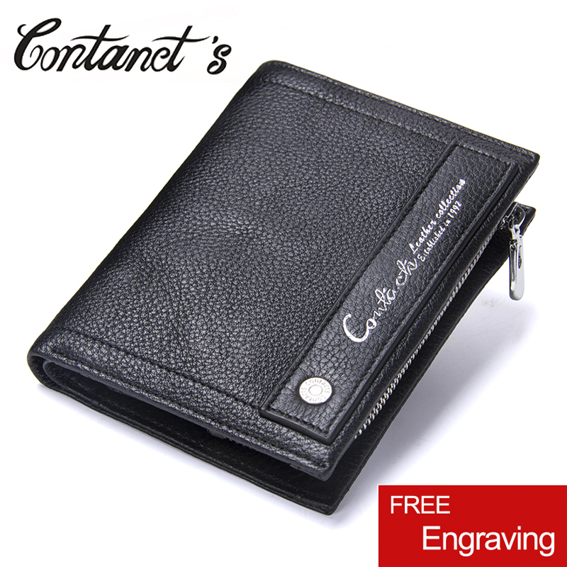 Genuine Leather Men Wallets New Fashion Design Coin Purse Card Holder Wallet For Men Portomonee Male Zipper Bag Famous Brand bogesi men s wallets famous brand pu leather wallets with wallet card holder thin slim pocket coin purse price in us dollars