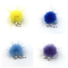 Cute 5pcs Fluffy Plush Ball 3D Nail Art
