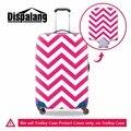 Dispalang oblíqua tarja impressão mala trolley tampa durável à prova de poeira caso de viagem cobertura de bagagem para 18-30 polegada cobertura de bagagem