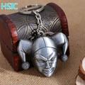 HSIC 5pcs/lot Joker Keychain Metal Alloy Key Chain Ring Holder for Men 7x6.2cm Valentine's Day Gift