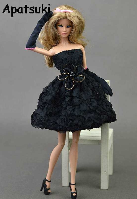76c94326ba671 Detail Feedback Questions about Doll Dresses Rose Flower Black ...
