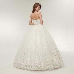 Fansmile 2019 Elegant Luxury Lace Wedding Dress Vintage Ball Gowns Vestido De Noiva Plus Size Customized FSM-502F 3
