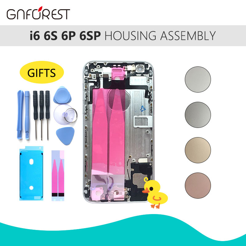 Assembly Battery-Cover Chassis Middle-Frame 6plus-Back Full-Housing iPhone 6 for Door