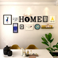 Nordic Stype Home Decor Design Wedding Love Photo Frame Wall Decoration Wooden Picture Frame Kit Wall Photo Frame Set Hanging