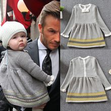 Harper Seven Victoria Beckham daughter sweater Dress fashion baby girl dress clothes 1-5T
