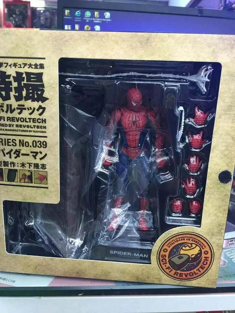 Spider Man Action Figure Toys SCI-FI REVOLTECH Spider-Man Anime Movie Figures Model Toy spider man toys 2002