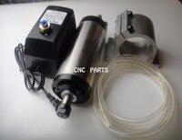 Фрезерные шпинделя ER16 1.5KW шпиндель водяного охлаждения + водяной насос + водопровод + поддержка шпинделя