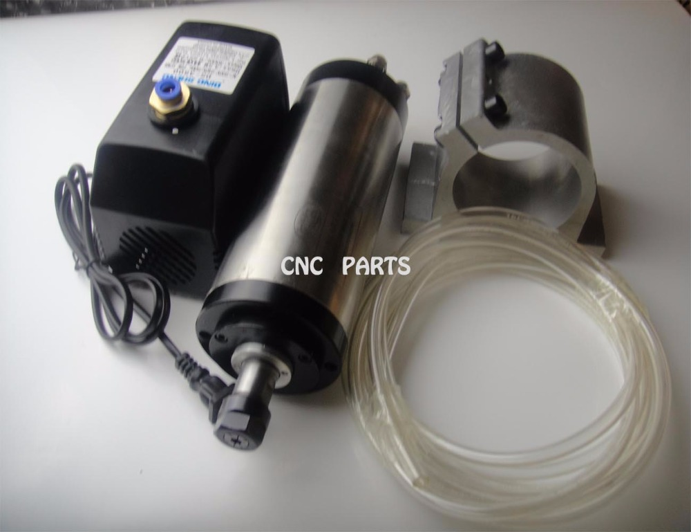 CNC milling spindle ER16 1.5KW water cooling spindle +water pump+water pipe+spindle support цены