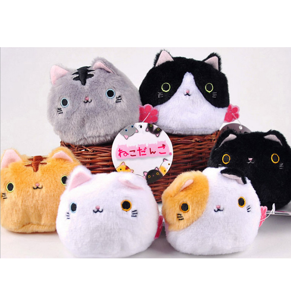 Kawaii Lovely Cute Cats Stuffed TOY Keychain Cat Gift plush TOY DOLL Kid's Party Birthday plush toys 7CM 6colors