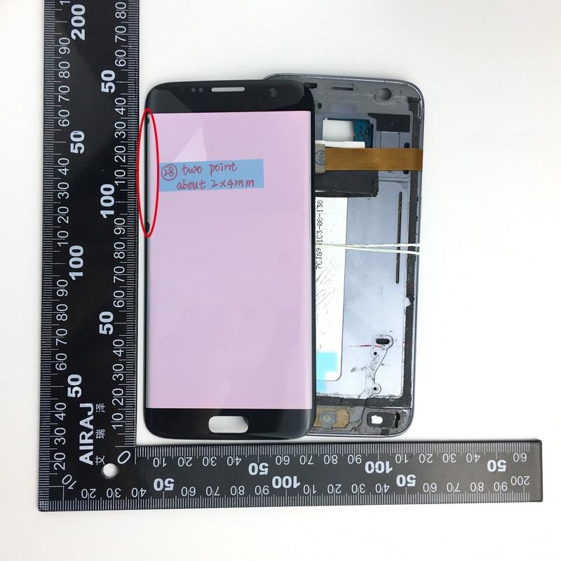 imágenes para NO. 28 Para Samsung Galaxy s7 borde G935T G935F G935FD G935A G935P Defecto Pantalla LCD Táctil Negro Freeshipping + seguimiento NO.