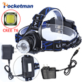 T6 Xm-L Led Headlight 3800Lm Headlamp Flashlight Head Torch Linterna Cree Xml T6 With 18650 Battery/Ac Charger Fishing Light