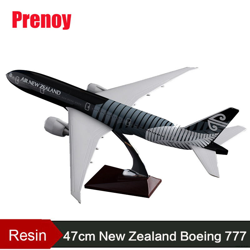 47cm B777 Aircraft Model New Zealand Airlines Model Air New Zealand Boeing 777 Airplane Airways Model Aviation Airbus Toys Gifts
