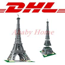 DHL LEPIN 17002 3478pcs The Eiffel Tower Model Building Kits Minifigures Brick Toys Compatible 10181 Christmas Gift