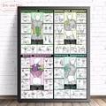 Мускул Бодибилдинг Фитнес Холст Искусство Печать постер Настенная картина для гостиной дома декоративный Декор для спальни без рамки