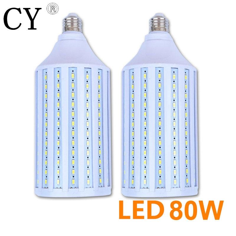 LightupFoto 2pcs E27 220v Photo Studio Bulb 80W 5730 SMD LED Video Light Corn Lamp Bulb & Tubes Photographic Lighting