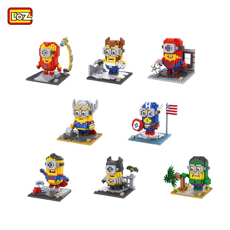 LOZ Yapı Taşları Oyuncaklar Minion Rakam Blokları Montaj Oyuncaklar 3D Blokları Modeli Brinquedo Minion Karikatür Karakterler Blok Oyuncak