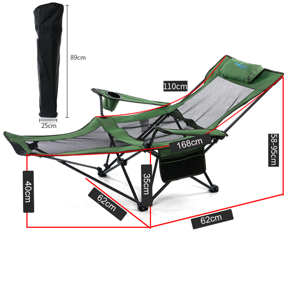 Outdoor Folding Portable Folding Chairs Fishing Camping Chair Seat  Oxford Cloth Lightweight Seat For  Stainless Steel