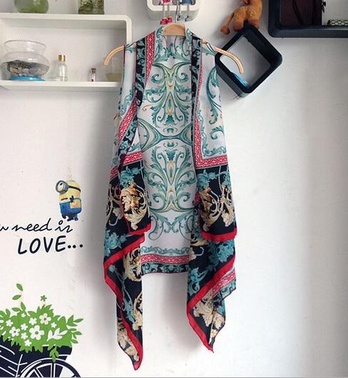 New Chiffon shawl all match loose vest long cardigan summer tops ...