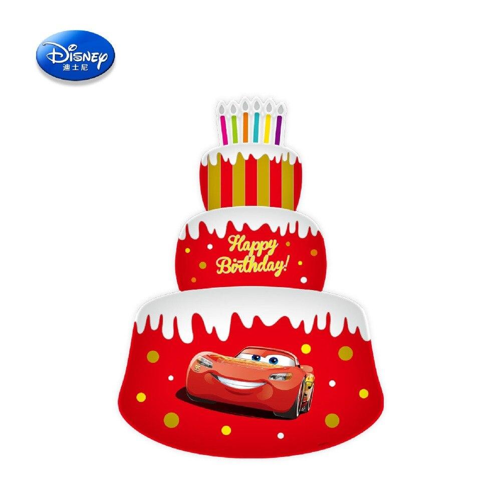 Disney véritable jouets gonflables Minnie ballons garçons voiture mickey papier d'aluminium jouets DBCY34 pouces trois couches gâteau voiture jouet