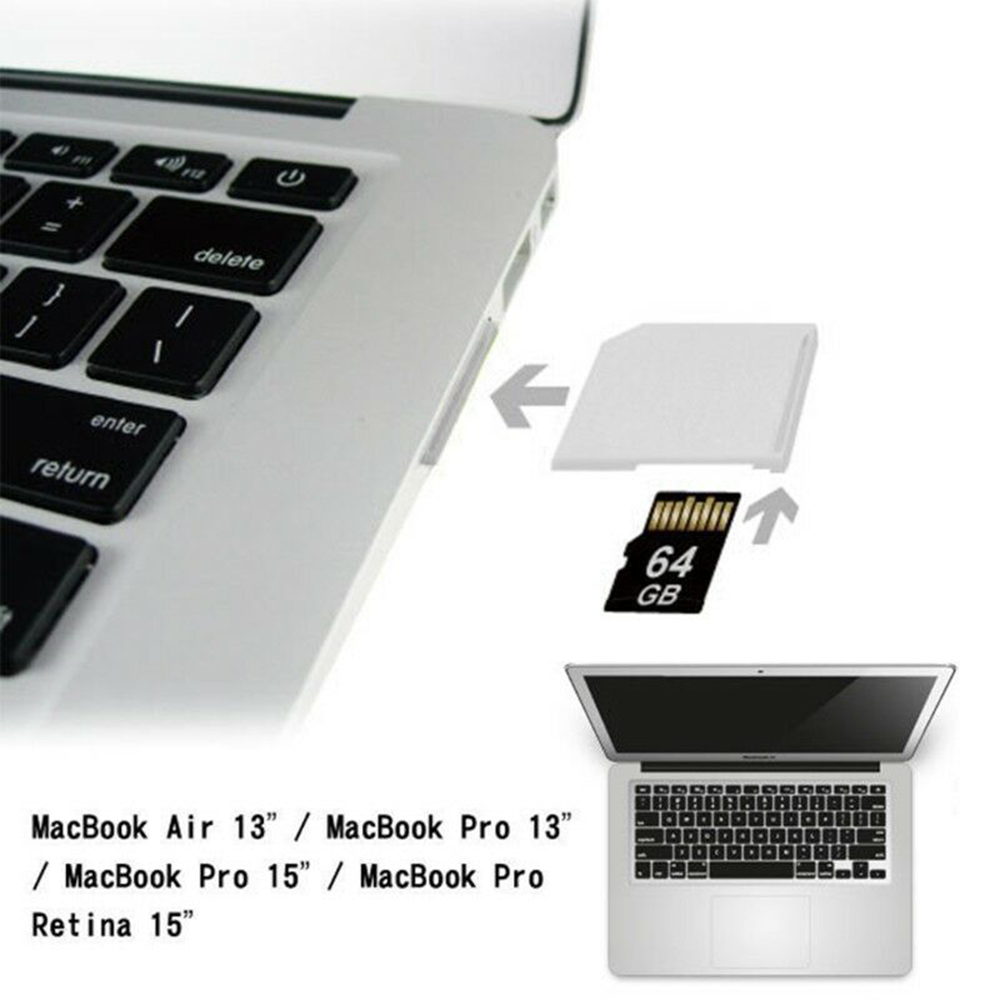 For MacBook Pro Card Converter Portable Mini Micro SD TF To SD Card Memory Card Converter Adapter For MacBook Air