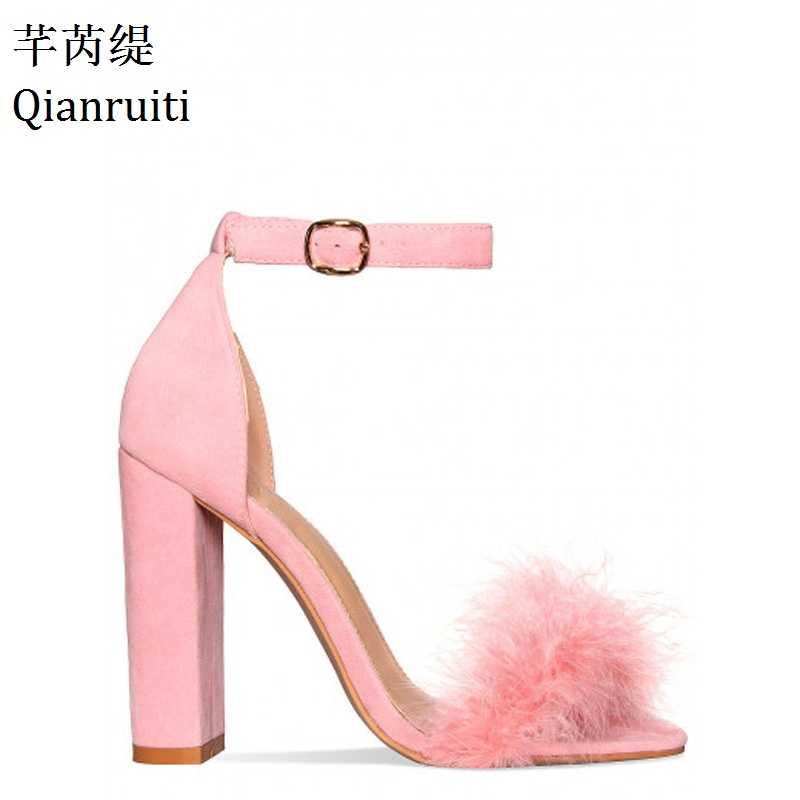 Buy feather heels pink and get free shipping on AliExpress.com b1b6d1dc109b