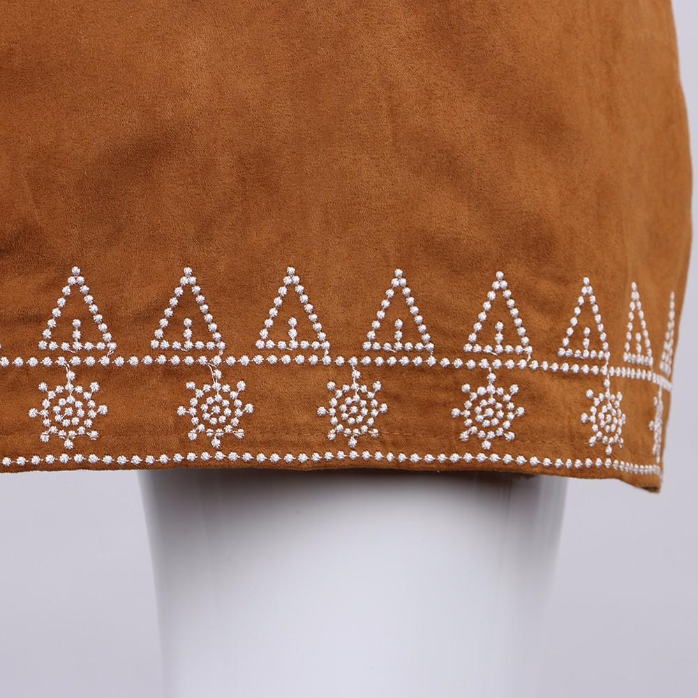 HTB14FK3NFXXXXcpaXXXq6xXFXXXR - FREE SHIPPING  Embroidery Suede A-line Skirt Black Brown Mini Skirts JKP350