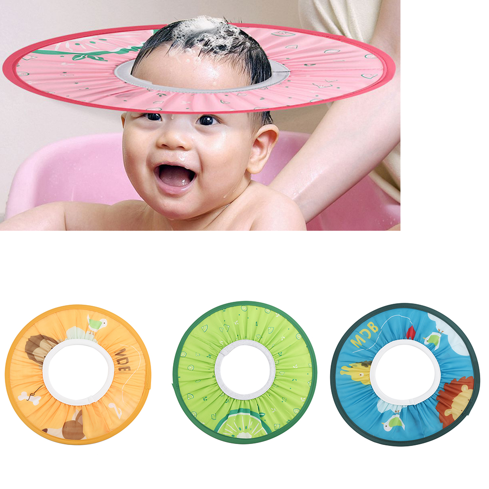 e6ea78f09e2 Toddler Kids Wash Hair Shield Caps Soft Safe Baby Shower Cap Baby Hat  Shampoo Bathing Shower Protect 4 Colors 2018 Baby Products