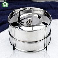 Instant Pot Set Food Steamer Basket Stainless Steel Steam Grid Stackable Pressure Cooker Steamer With Holder Cooking Accessory