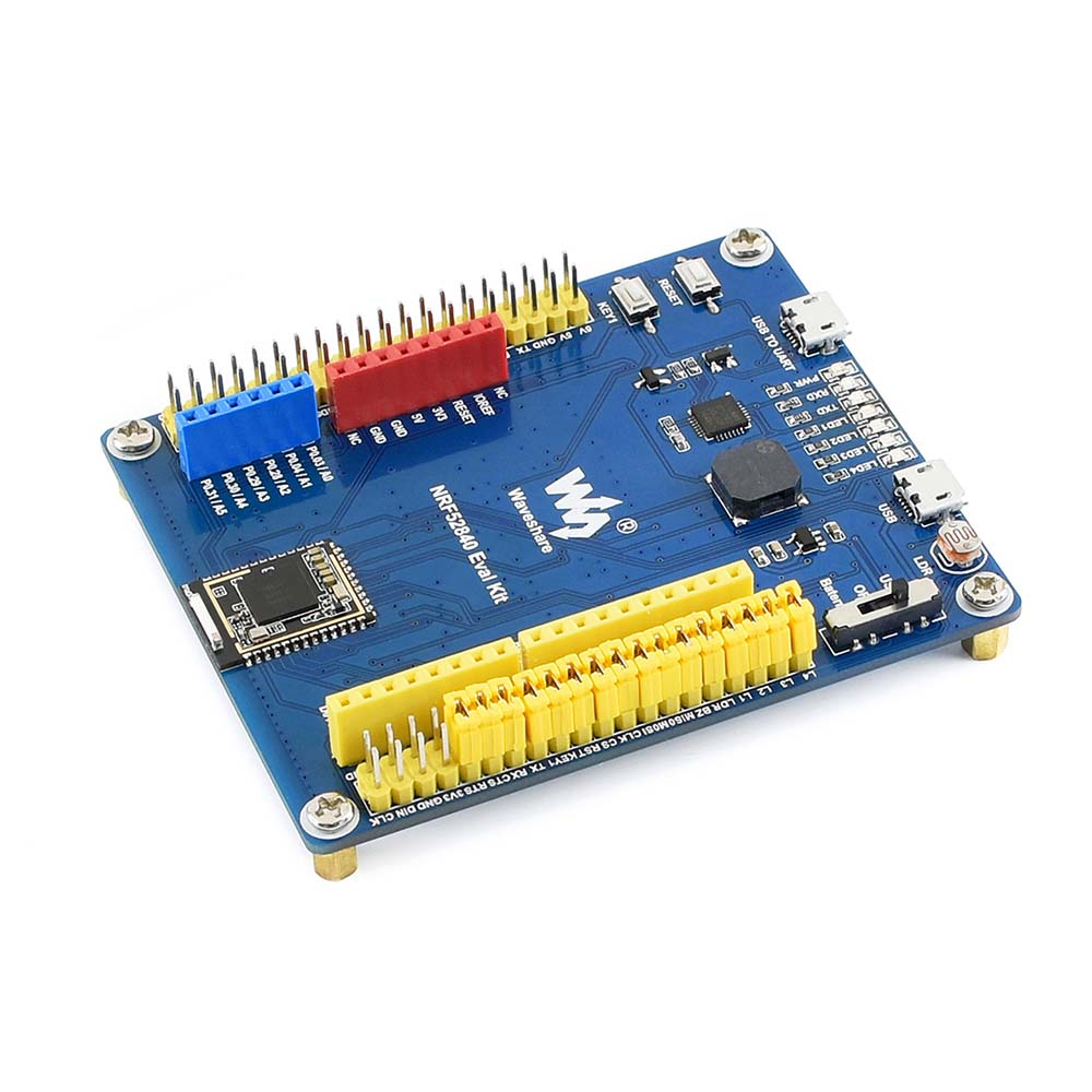 Waveshare nRF52840 Bluetooth 5.0 Evaluation Kit, features Arduino, Raspberry Pi Connectivity,and several common used peripheralsWaveshare nRF52840 Bluetooth 5.0 Evaluation Kit, features Arduino, Raspberry Pi Connectivity,and several common used peripherals