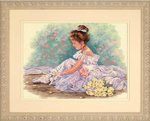 Маленькие балерины вышивка