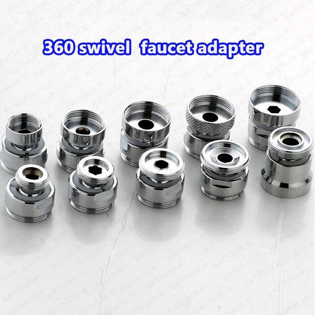 kitchen faucet adapter two tier island 360 degree swivel adjustable brass male m24 female adaptor size