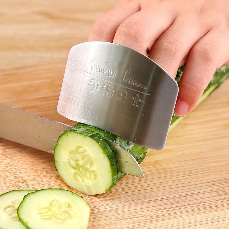 New Stainless Steel Kitchen Portable Hand Guard Finger Protector Knife Slice Chop Safe Slice Kitchen Tool