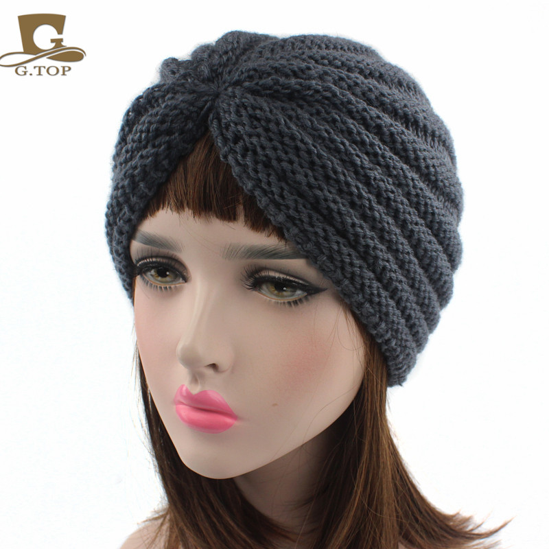 New fashion Women handmade crochet beanie Head Cover Up hat striped Turban in Women 39 s Hair Accessories from Apparel Accessories
