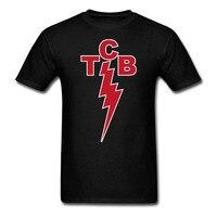 אלביס פרסלי TCB סמל תאורה טיפול בעסקים גברים החולצה ונשים טי הדפסת גודל גדול S-XXXL