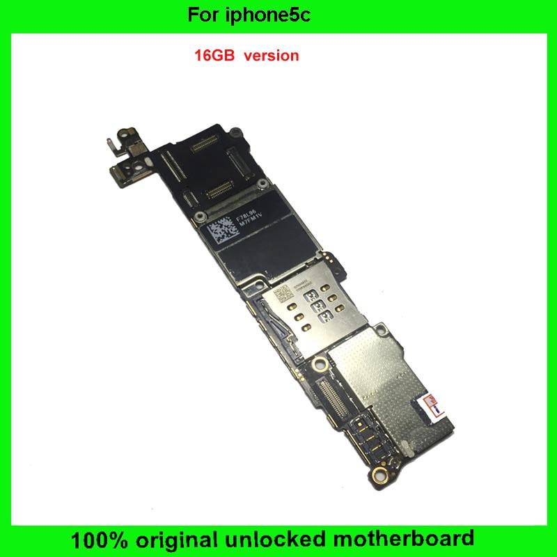 imágenes para 100% buen funcionamiento ios sistema 16 gb desbloqueado y 100% completo completamente placa madre mainboard original para iphone 5c con chips