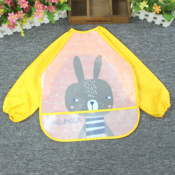 Cartoon Baby Bibs Apron Adjustable Burp Cloths Feeding with Long Sleeves Baby Accessories Stuff Cute Animals bavoir toddler kids 1