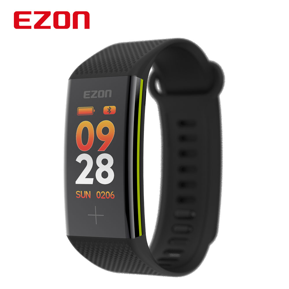 Relogio Masculino EZON Bluetooth Smart Wristband Bracelet Fitness Tracker Color Screen Heart Rate Monitor Pedometer SmartbandRelogio Masculino EZON Bluetooth Smart Wristband Bracelet Fitness Tracker Color Screen Heart Rate Monitor Pedometer Smartband