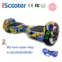 Free Shipping Colorfu IScooter Hoverboard 2 Wheel Self Balance Electric Scooter With LED 7inch Smart Steering