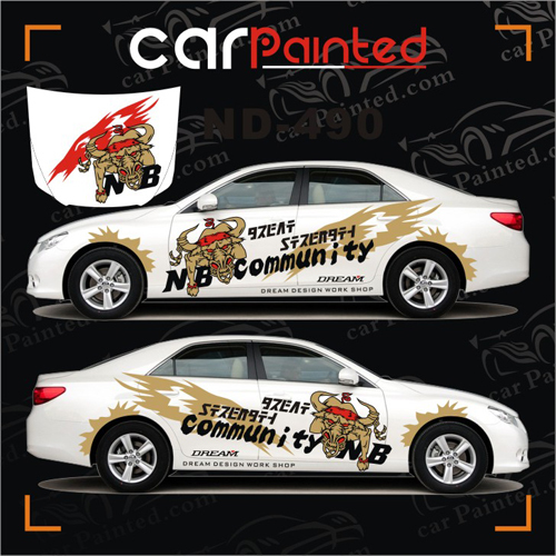 automotive garland gold mad bull whole car sticker alphabetical vehicle decal car 39 s color. Black Bedroom Furniture Sets. Home Design Ideas