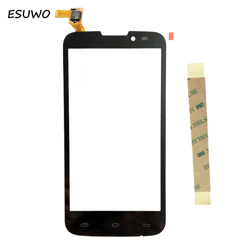 ESUWO Touch Screen Sensor Panel For PRESTIGIO MultiPhone PAP 5517 PAP5517 DUO Touch Screen Digitizer Front Glass +3m sticker