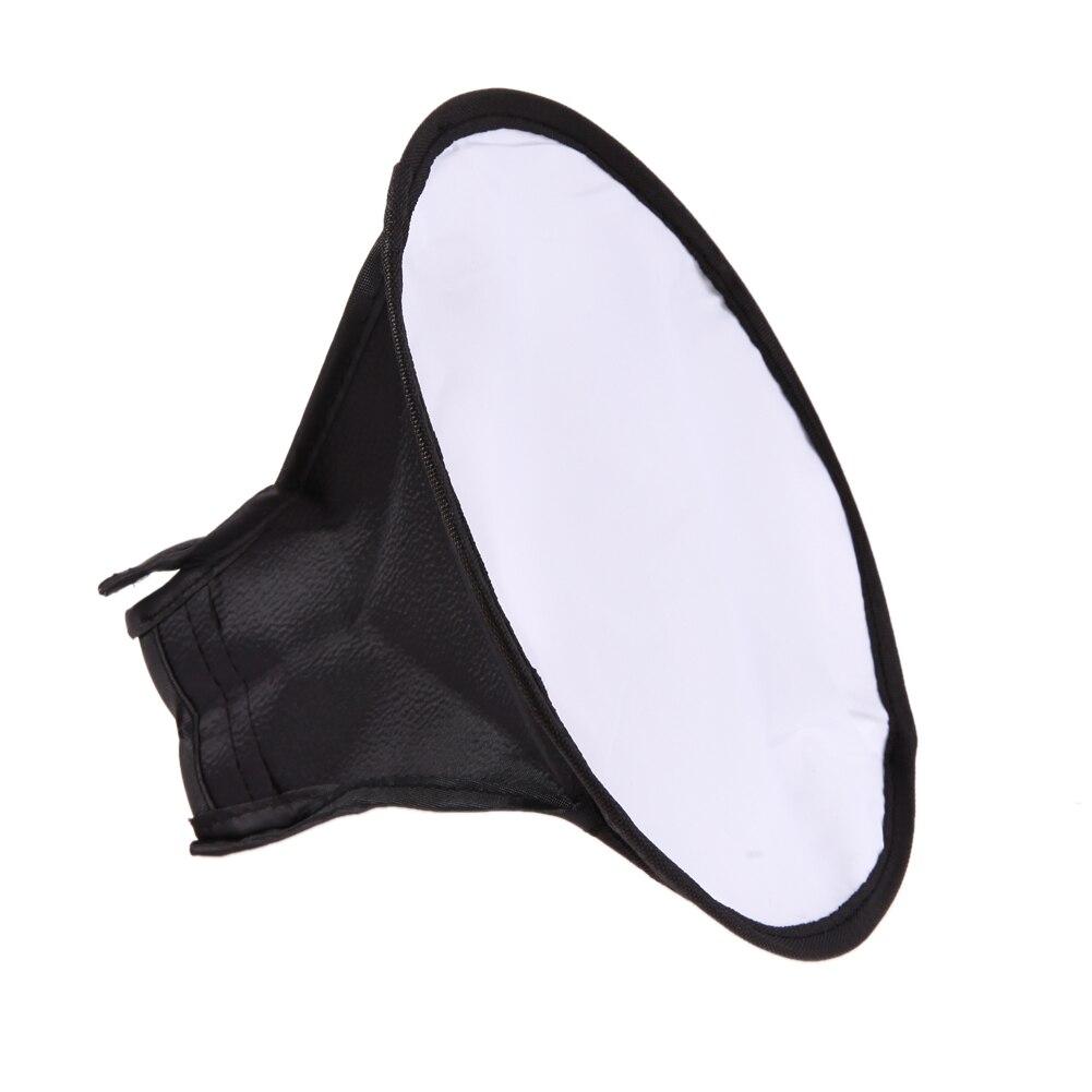 20 cm Ronde Flash Softbox Diffuseur Flash Mini Soft Box Photographie pour Canon 580EX/430EX/550EX pour Nikon SB900 Speedlight