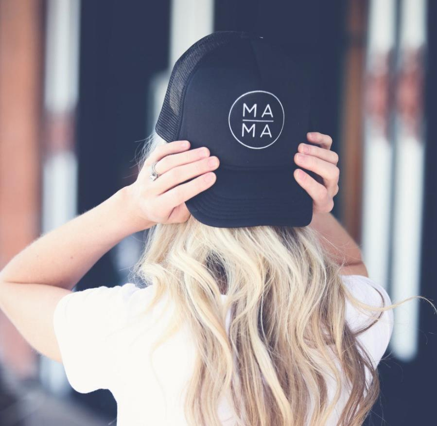 Mama Letters Print Baseball Cap Trucker Hat For Women Men Unisex Mesh Adjustable Size Drop Ship M 170|Men