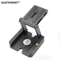 Easttowest Z Flex Tilt Tripod Heads Aluminum Folding Z Type Release Plate Stand Holder with Spirit Level for Canon Nikon DSLR