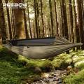 REEBOW TACTICAL Outdoor Survival Hammock Men Gauze Military Anti-insect Durable Stable Hammock with SBS Two-side Zipper