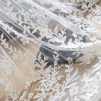 Clothing accessories clothing lace DIY bridal veil dress materials embroidery decoration fabric super wide