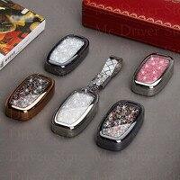 Car Key Case Diamond Shell For Audi A4L A6L B6 B7 B8 A4 Q5 Q3 Q7 A3 A5 A6 A8 With Keychain Smart Remote Car Key Protector Holder