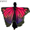 ZAFUL Women Fashion Scarf Fashion Pashmina Butterfly Wing Cape Scarf Peacock Novelty Color Cape Casual Womens Long Scarves