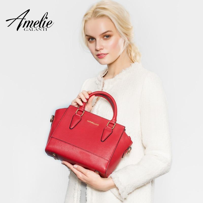 AMELIE GALANTI new handbag for women fashion famous design crossbody bags solid hard high quality pu trapeze zipper lady 2017